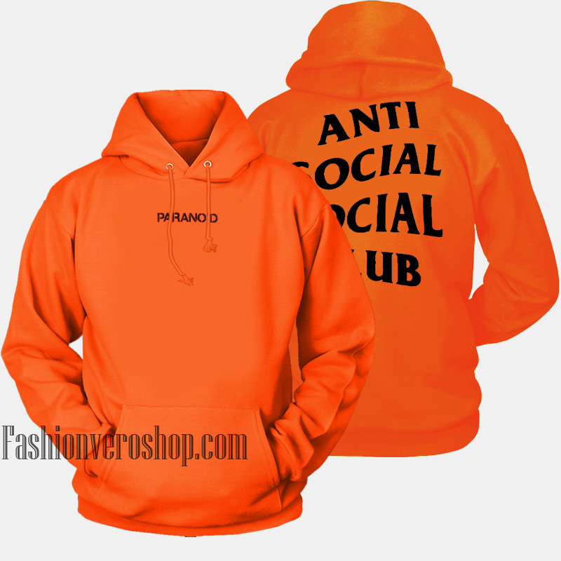 46c8e5d61c62 Anti Social Social Club Undefeated Paranoid HOODIE Unisex Adult Clothing