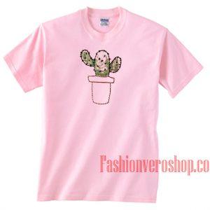 Cactus Cute Light Pink Unisex adult T shirt