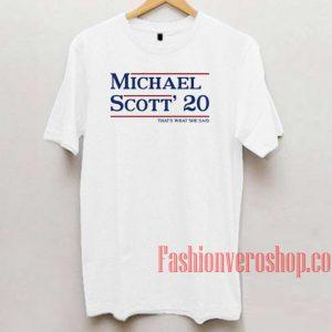 Michael Scott 20 Unisex adult T shirt
