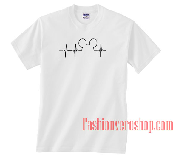 849d85e1 Mickey Mouse Heartbeat Unisex adult T shirt
