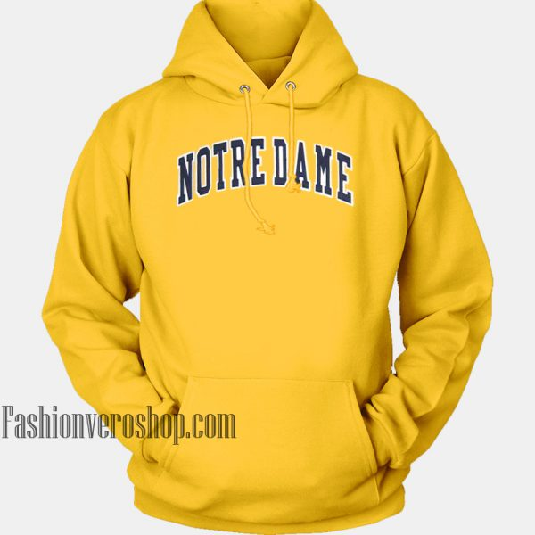 Notre Dame Yellow HOODIE Unisex Adult Clothing