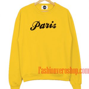 Paris Yellow Sweatshirt
