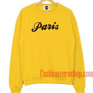 Paris Yellow Sweatshirt