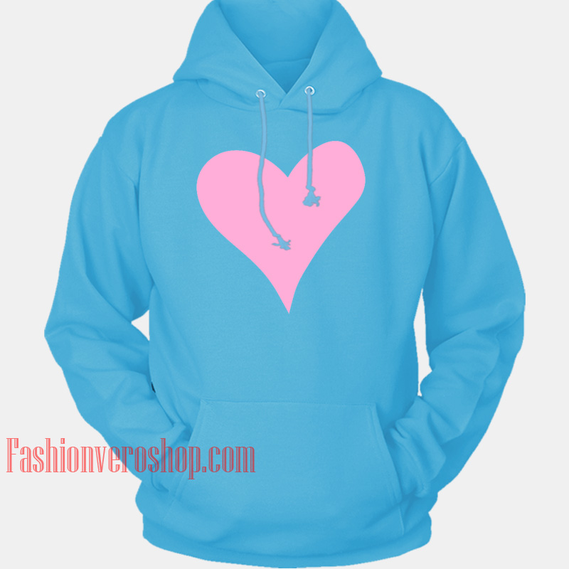 fashion best online cheaper Pink Heart HOODIE - Unisex Adult Clothing