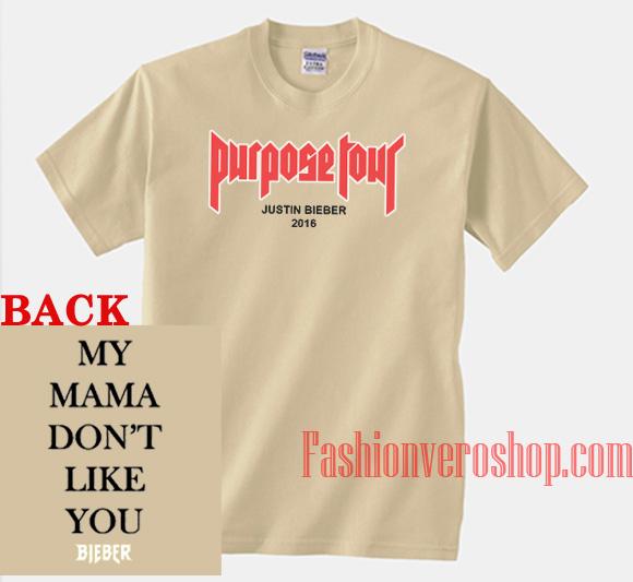 Purpose Tour 2016 Cream Unisex adult T shirt