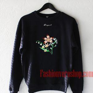 Respect Flower Print Sweatshirt