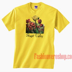 Skagit Valley TulipYellow Unisex adult T shirt