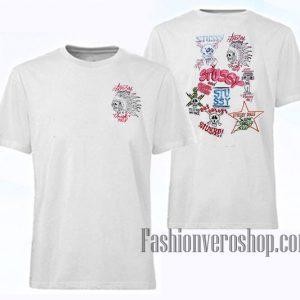 Stussy JJ VILLARD Skulls Unisex adult T shirt
