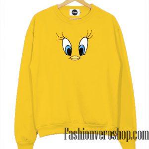 Tweety Bird Face Yellow Sweatshirt
