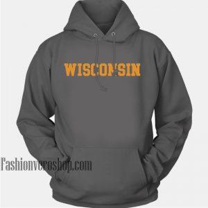 Wisconsin Dark Grey HOODIE - Unisex Adult Clothing
