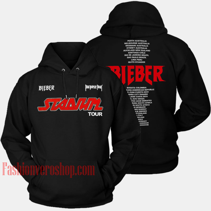18f524a5 Justin Bieber Stadium Tour HOODIE - Unisex Adult Clothing