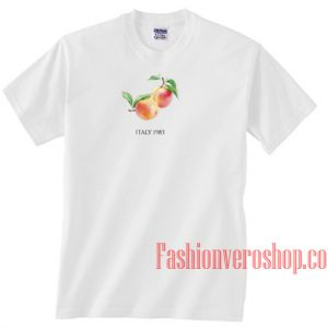 Peach Italy 1983 Unisex adult T shirt