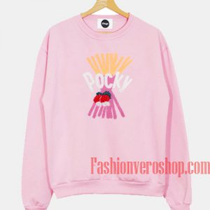 Pocky Strawberry Light Pink Sweatshirt
