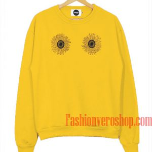Sunflowers Boobs Gold Yellow Sweatshirt