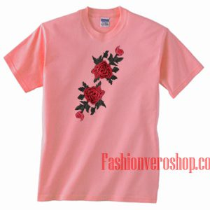 Twin Rose Pink Unisex adult T shirt
