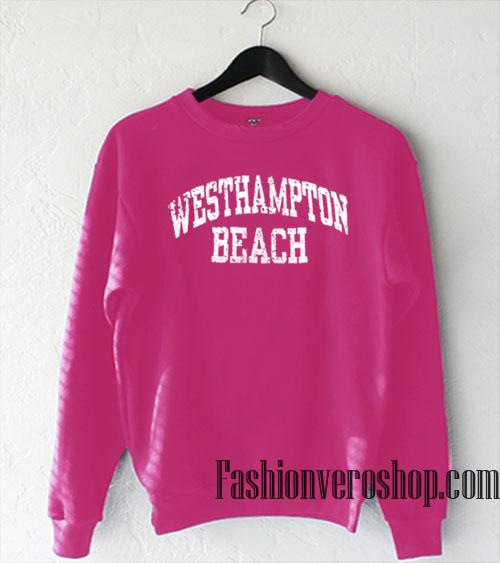 Vintage Westhampton Beach Hot Pink Sweatshirt