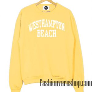 Vintage Westhampton Beach Light Yellow Sweatshirt