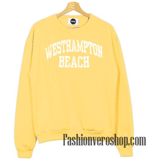 Vintage Westhampton Beach Light Yellow Sweatshirt