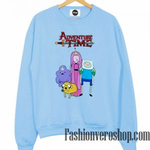 Adventure Time Light Blue Sweatshirt