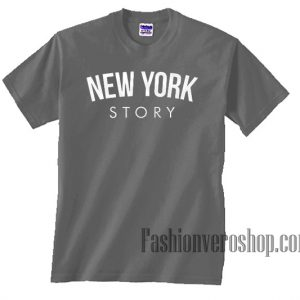 New York Story Dark Grey Unisex adult T shirt