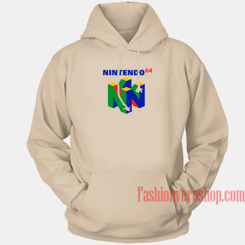 Nintendo 64 Logo Hoodie Unisex Adult Clothing