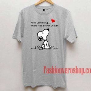 Snoopy Keep Looking Up Unisex adult T shirt