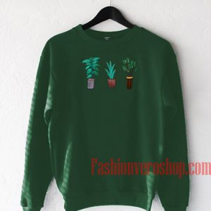 Three Potted Plants Sweatshirt