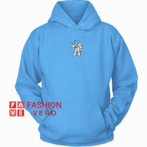 Astronaut Print Baby Blue HOODIE - Unisex Adult Clothing