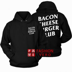 Bacon Cheese Burger Club HOODIE - Unisex Adult Clothing