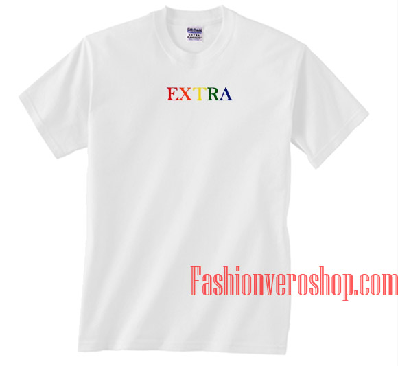 bf0730536db6 Extra Rainbow Unisex adult T shirt