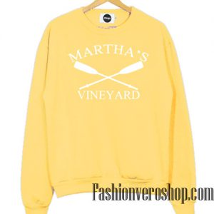 Martha's Vineyard Light Yellow Sweatshirt