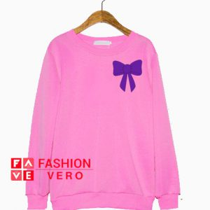 Purple Bow Sweatshirt