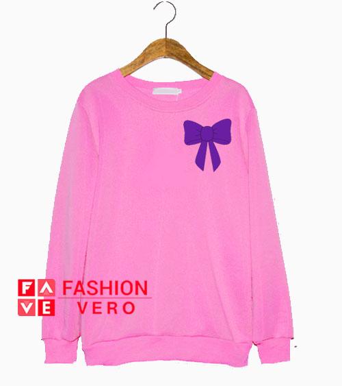 Purple Bow Sweatshirt