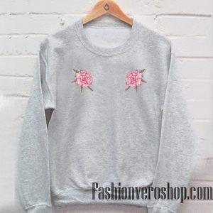 Rose Floral Print Sweatshirt