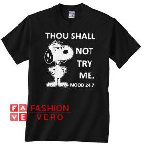 Snoopy Thou Shall Unisex adult T shirt