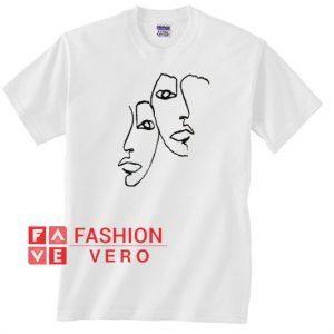 Twin Face Art Unisex adult T shirt