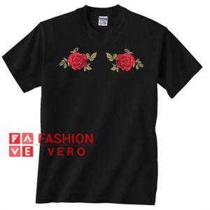 Twin Rose Print Unisex adult T shirt