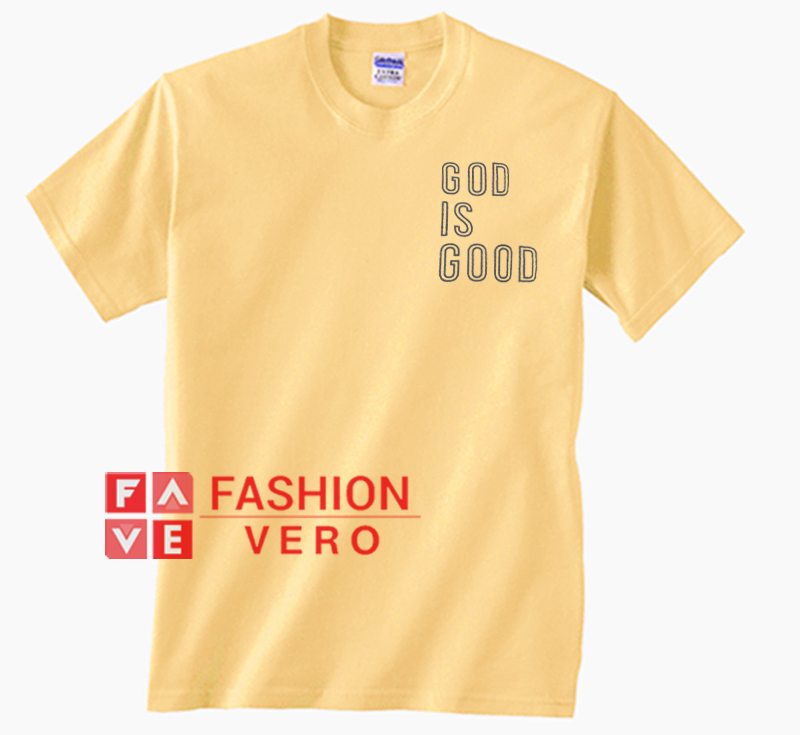 8dfb5d9f57b6 God Is Good Bright Yellow Unisex adult T shirt