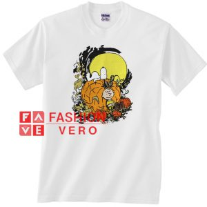 Snoopy and Charlie Brown and Pumpkin Unisex adult T shirt