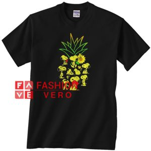 Snoopy and Woodstock Pineapple Unisex adult T shirt