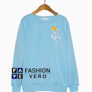 Space Jam Bugs Looney Tunes Light Blue Sweatshirt