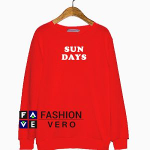 Sun Days Red Sweatshirt