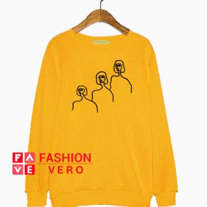 Three Faces Print Sweatshirt