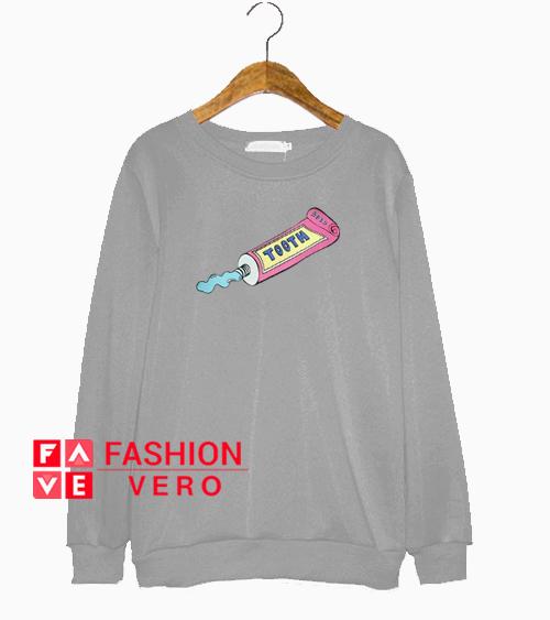 Toothpaste Grey Sweatshirt