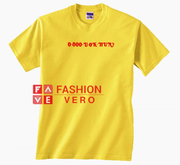 0 800 U Ok Hun Unisex adult T shirt