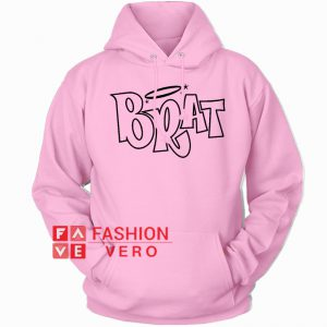 Brat Logo Light Pink HOODIE - Unisex Adult Clothing