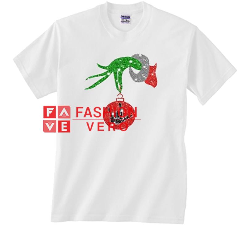 cae69dffbe14 Grinch Hand Ornament Spider Man Hand Glitter Unisex adult T shirt