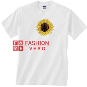 Peace Sunflower Unisex adult T shirt