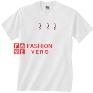 3 Faces Unisex adult T shirt