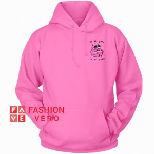 It's All Good In Mi Hood Pink HOODIE - Unisex Adult Clothing